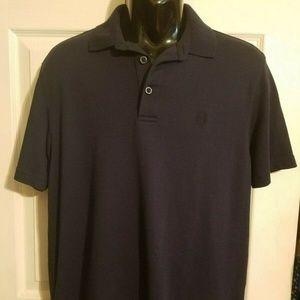 IZOD Golf Polo Shirt Navy Blue SZ Medium